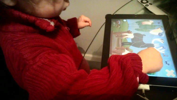 iPad, toddler