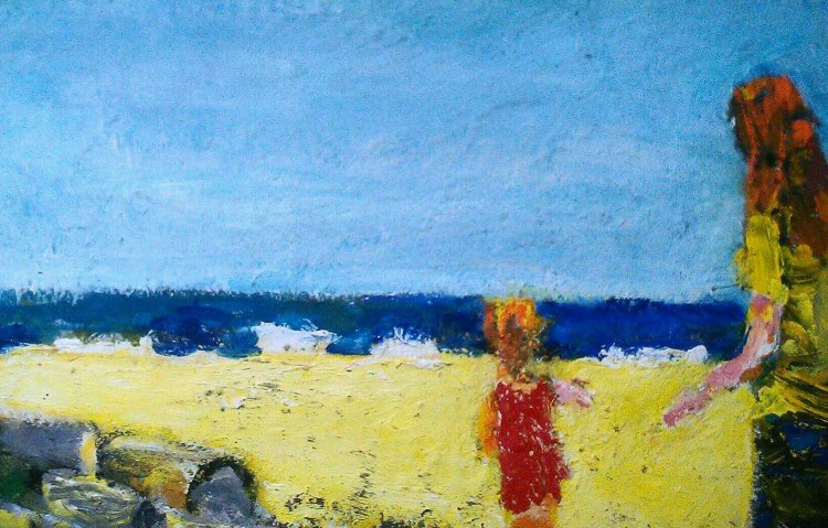 painting, beach, philip amsden