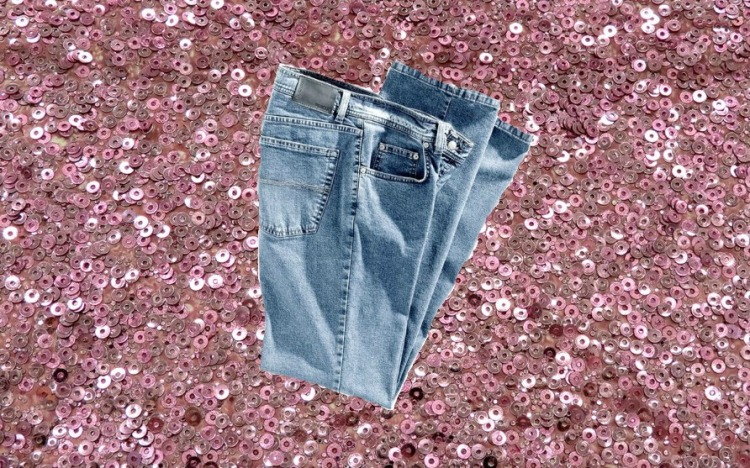 jeans and sequins